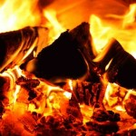 Going green by burning wood