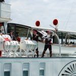 Lake Geneva's belle epoque paddle boats attacked by pirates