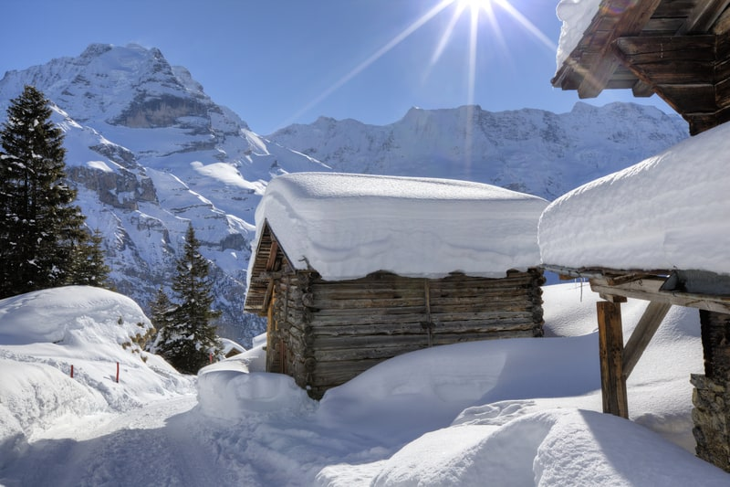 Winter chill arrives in switzerland but not for long - What temperature to keep house in winter when gone ...