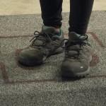 Magic mat to check shoes at Geneva airport
