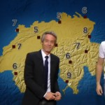 Swiss tennis star Stan Wawrinka presents the Swiss weather