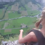 American model does nude base jump in Switzerland