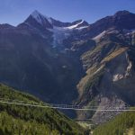 World's longest foot suspension bridge in Switzerland