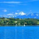 A bridge across Lake Geneva becomes a little less imaginary